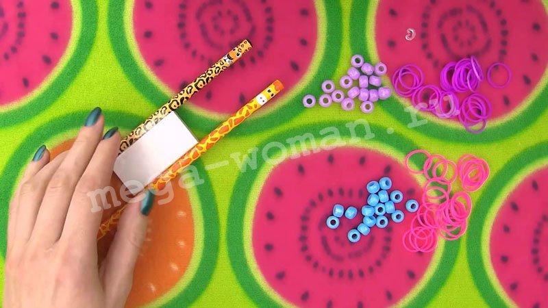 як делать браслети з гумок