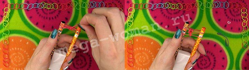 Плетение резинок браслета