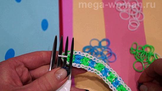 Как сделать из станка браслет из резинок на