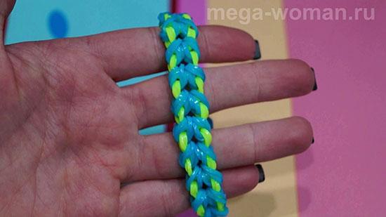 Как делать браслет из резинок крючком
